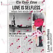 Love is Selfless Transfer Me A4 Sheet - Dress My Craft