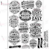 Life Quotes Transfer Me A4 Sheet - Dress My Craft - PRE ORDER