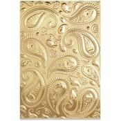 Paisley 3-D Textured Impressions Embossing Folder - Sizzix
