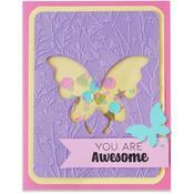 Butterfly Meadow Impresslits Embossing Folder - Sizzix