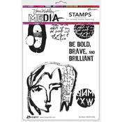 Be Bold Dina Wakley Media Cling Stamps - PRE ORDER