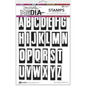 Block Alphas Dina Wakley Media Cling Stamps - PRE ORDER