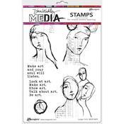 Ledger Girls Dina Wakley Media Cling Stamps - PRE ORDER