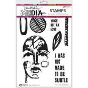 Not Subtle Dina Wakley Media Cling Stamps - PRE ORDER