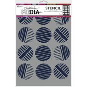 Lined Circles Dina Wakley Media Stencils - PRE ORDER