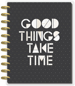 Black & White Big Dated Vertical Layout - The Happy Planner