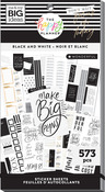 Black & White 30 Sheet Sticker Pad - The Happy Planner