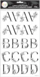 Sophisticated Florals Black Alphabet Large Icon Stickers - The Happy Planner - PRE ORDER