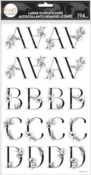 Sophisticated Florals Black Alphabet Large Icon Stickers - The Happy Planner