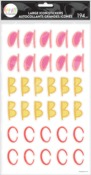 Small Whimsical Brights Alpha Large Icon Stickers - The Happy Planner