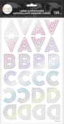 Art Deco Rainbow Alphabet Large Icons Stickers - The Happy Planner