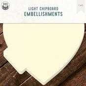 """Heart - P13 Light Chipboard Album Base 6""""X6"""""""