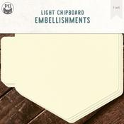 "Hexagon - P13 Light Chipboard Album Base 6""X6"""