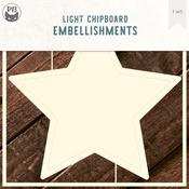"Star - P13 Light Chipboard Decoration Base 6""X6"""