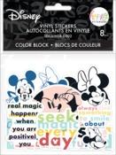 Disney © Colorblock Mickey & Minnie Die Cut Sticker Pack - The Happy Planner