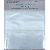 Mix It Up - Foundations 6x8 Page Protectors - 49 And Market - PRE ORDER