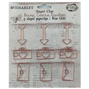 Rose Gold Shaped Clips - Vintage Artistry Essentials - 49 And Market