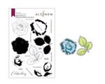 Build-A-Flower: Bellaroma Hybrid Tea Rose Layering Stamp & Die Set - Altenew