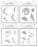 Tranquility Rose Simple Coloring Stencil Set - Altenew
