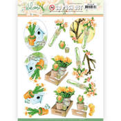Orange Tulips Punchout Sheet - Welcome Spring - Find It Trading