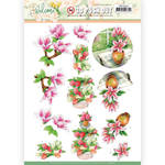 Pink Magnolia Punchout Sheet - Welcome Spring - Find It Trading