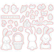 Easter Buddies Honey Cuts - Honey Bee Stamps