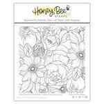 Spring Blooms Background 6x6 Stamp Set - Honey Bee Stamps