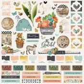 Simple Vintage Farmhouse Garden Cardstock Sticker - Simple Stories