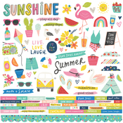 Sunkissed Combo Sticker - Simple Stories