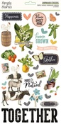 Simple Vintage Farmhouse Garden Chipboard Stickers - Simple Stories