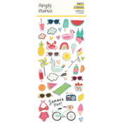 Sunkissed Puffy Stickers - Simple Stories