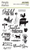 Simple Vintage Farmhouse Garden Clear Stamps - Simple Stories