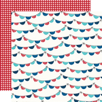 Time to Sparkle Paper - Stars, Stripes + Sparklers - Simple Stories - PRE ORDER