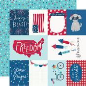 Elements & Stars Paper - Stars, Stripes + Sparklers - Simple Stories