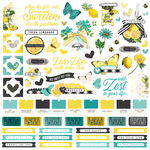 Simple Vintage Lemon Twist Cardstock Sticker - Simple Stories