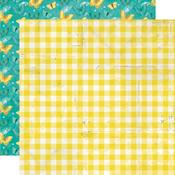 Fresh Squeezed Paper - Simple Vintage Lemon Twist - Simple Stories