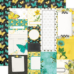 Journal Elements Paper - Simple Vintage Lemon Twist - Simple Stories