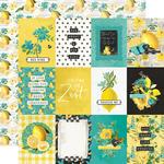 3x4 Elements Paper - Simple Vintage Lemon Twist - Simple Stories