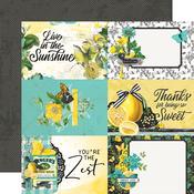 4x6 Elements Paper - Simple Vintage Lemon Twist - Simple Stories