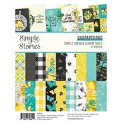 Simple Vintage Lemon Twist 6x8 Paper Pad - Simple Stories