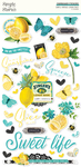 Simple Vintage Lemon Twist Chipboard Stickers - Simple Stories - PRE ORDER