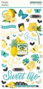 Simple Vintage Lemon Twist Chipboard Stickers - Simple Stories
