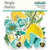 Simple Vintage Lemon Twist Floral Bits & Pieces - Simple Stories