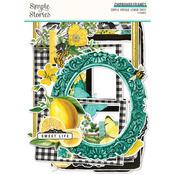 Simple Vintage Lemon Twist Chipboard Frames - Simple Stories