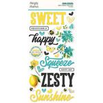 Simple Vintage Lemon Twist Foam Stickers - Simple Stories - PRE ORDER