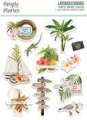 Simple Vintage Coastal Layered Stickers - Simple Stories - PRE ORDER