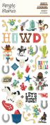 Howdy! Puffy Stickers - Simple Stories - PRE ORDER