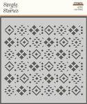 Aztec - Howdy! 6x6 Stencil - Simple Stories