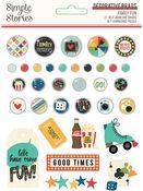 Family Fun Decorative Brads - Simple Stories
