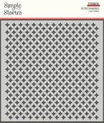 Retro Diamonds 6x6 Stencil - Family Fun - Simple Stories